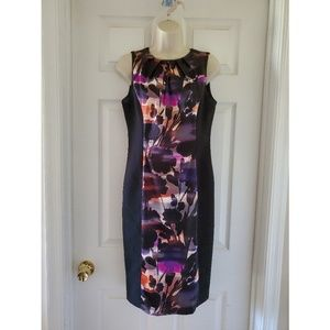 London Style Collection Black & Multi Print Dress